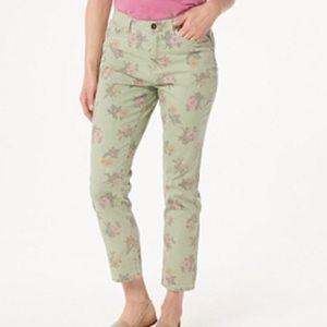 Studio by Denim&co striped floral ankle pants